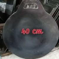 Wajan plat/loyang/ kuali martabak telur plat besi baja tebal 40 cm