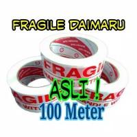 Lakban Fragile Daimaru Putih 100meter/ Lakban jagan di banting Lebar 2