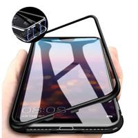 Oppo F7 - Luxury Magnetic Metal Case - Hitam