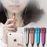 Headset Smule Microphone Mini + mic karaoke earphone 2 in 1