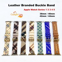 Apple Watch iWatch Tali Jam Kulit Leather Strap Band Buckle Branded