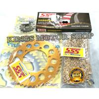 Promo Gear set Original SSS Ninja 250 Fi/RR/ZX/ RR Mono Gold Aluminium