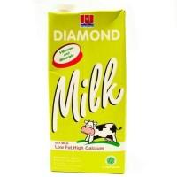 Susu UHT Diamond low fat high calcium 1 liter( perkarton ) | isi 12