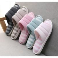 Sendal Rumah sandal kamar sandal hotel sandal lucu empuk anti selip - coklat muda, 44.45
