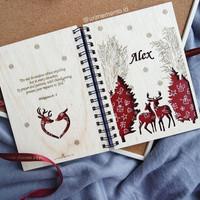Xmas Notebook A5 (Reindeer)