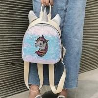 tas ransel unicorn kuda little my pony poni backpack sequin anak korea