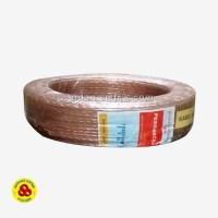 Kabel Audio Transparan 2x80 Roll Kabel Speaker 2 x 80 Bening