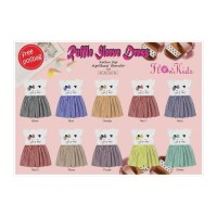 Dress Kucing Ruffle Sleeve Flowkids Size 2,3,4,5y Pakaian Anak
