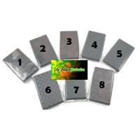 Tempat - Kotak Rokok Kaleng Kulit Hitam Motif