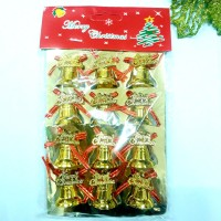 Lonceng Mini Merry Christmas isi 12 Dekorasi Pohon Natal Murah Parcel