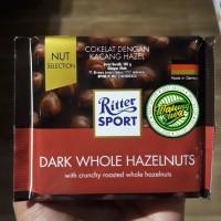 Ritter sport chocolate dark whole hazelnut 100 gram