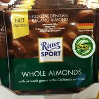 Ritter sport chocolate whole almond 100 gram