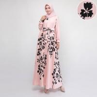 Maxi Dress/Gamis prisket maxmara premium Safa (Dusty)