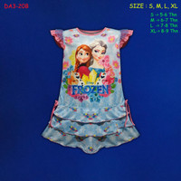(DA3-20B) Daster Anak Frozen, Baju Tidur Anak Beautiful Dream (5-9Th)