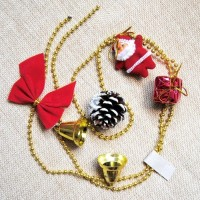 XDSS rantai santa dekorasi ornamen pohon natal aksesoris gantungan