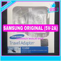 Charger Samsung A3 Tab 3 s4 Note 1 2 Grand Mega Original 100% 5V 2A - Putih