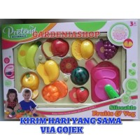 MAINAN EDUKATIF BUAH SAYUR POTONG FRUIT AND VEGETABLE