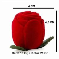 Kotak Cincin Mawar Bludru Merah utk Lamaran Tunangan Nikah