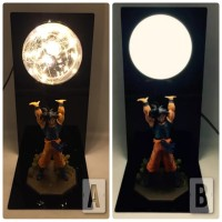 Action Figure Lampu LED Dragon Ball Son Go Ku Kamemeha