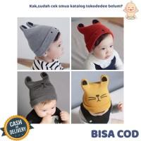 TokoDedee - Kupluk Bayi Model Kucing Untuk Laki-Laki Dan Perempuan \