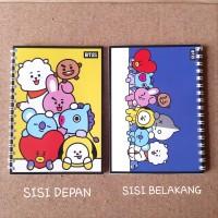 Notebook Buku KPOP BT21 BTS, Ukuran A6, 50 Lembar