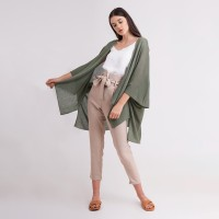 AKINA KNIT OUTER OLIVE LOOKBOUTIQUESTORE