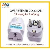 Over Steker Adaptor Kaki 3 ke 2 Travel Adapter Universal (UK + US+ AU)