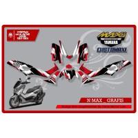 STICKER STRIPING DECAL MOTOR FULL BODY YAMAHA N MAX R GRAFIK