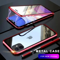 L 360 Metal Case For iPhone 6 7 8 Plus X XR XS MAX Case Magnetic