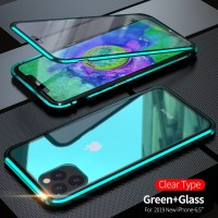 L Double-sided glass For IPhone 6 7 8 Plus case XS Max XR Magnetic