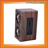 Speaker klasik retro kayu Portable Wireless Wooden Bluetooth