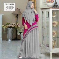 Baju Gamis Wanita terbaru Unik Product Syari CERUTY SADILA