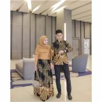 (ORI -6 VARIAN WARNA) Batik Couple Kartika 2495 Gamis kebaya modern