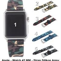 Apple Watch 42MM 42 MM iWatch - Tali Jam Silikon Strap Band Army Ca