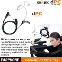 Headset Gaya Fbi Untuk Walkie Talkie Baofeng Or Ht Taffware Earphone