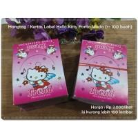 GTAG-12 : Hangtag / Kertas Label Hello Kitty Fanta Muda (+- 100 buah)