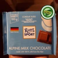 Ritter sport alpine milk chocolate 100 gram
