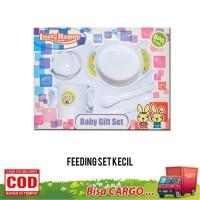 feeding set Lusty Bunny, Peralatan Makan Bayi, set makan bayi - Biru