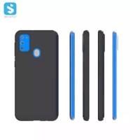 Case Samsung M31 Softcase Silicone Black Matte Casing