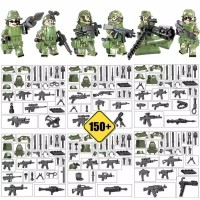 Lego City army soldier SWAT Minifigures 8 pcs set Superhero
