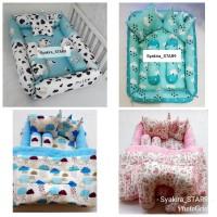 baby nest kotak motif Kasur Bayi