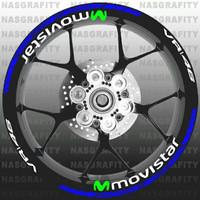 Sticker velg movistar utk R15, R25, vixion, byson, mt25, aerox, nmax,