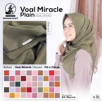 Hijab/Jilbab/Kerudung Polos Voal Miracle Segi Empat Umama Scarf