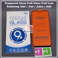 Tempered Glass Samsung A50 / A30 /A30s / A20 Full Glas Full Glue