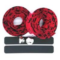 Handlebar Tape Sepeda 2M x 30MM 2 PCS Black/Red