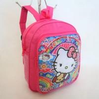 Jual Tas Gendong Anak Cewek Motif Hello Kitty Pink Paud TK Murah