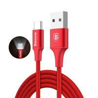 [PROMO] Baseus 2A LED Light USB Type C Fast Charging Cable 1M