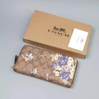 Coach wallet women original cokelat muda