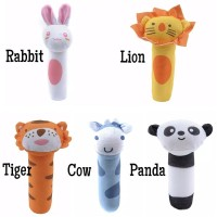 Mainan bayi rattle stik boneka bunyi animal doll baby plush toy