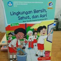 Buku SD Kelas 1 Buku Siswa Tema 6 Kelas 1 Diknas Lingkungan Bersih,